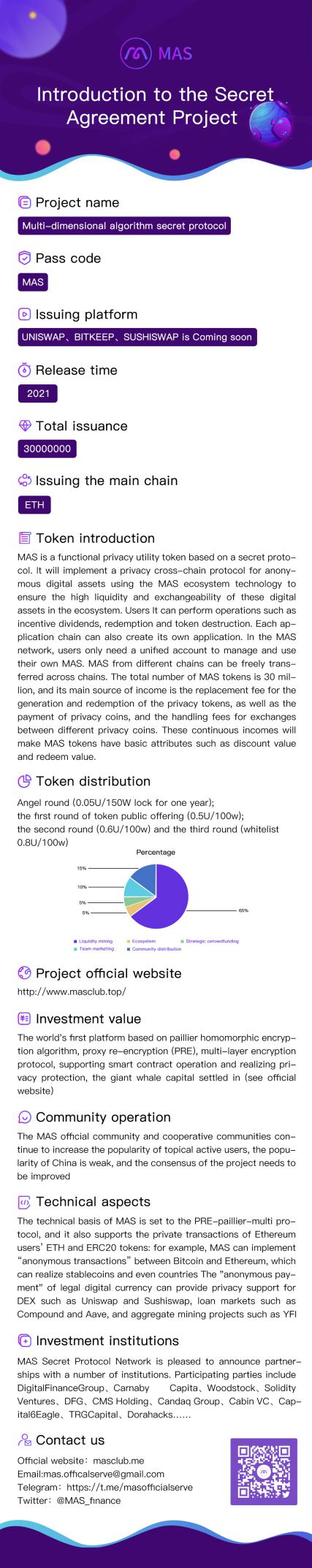 The meaning of MAS——Privacy-the most important unicorn in the DEFI world!